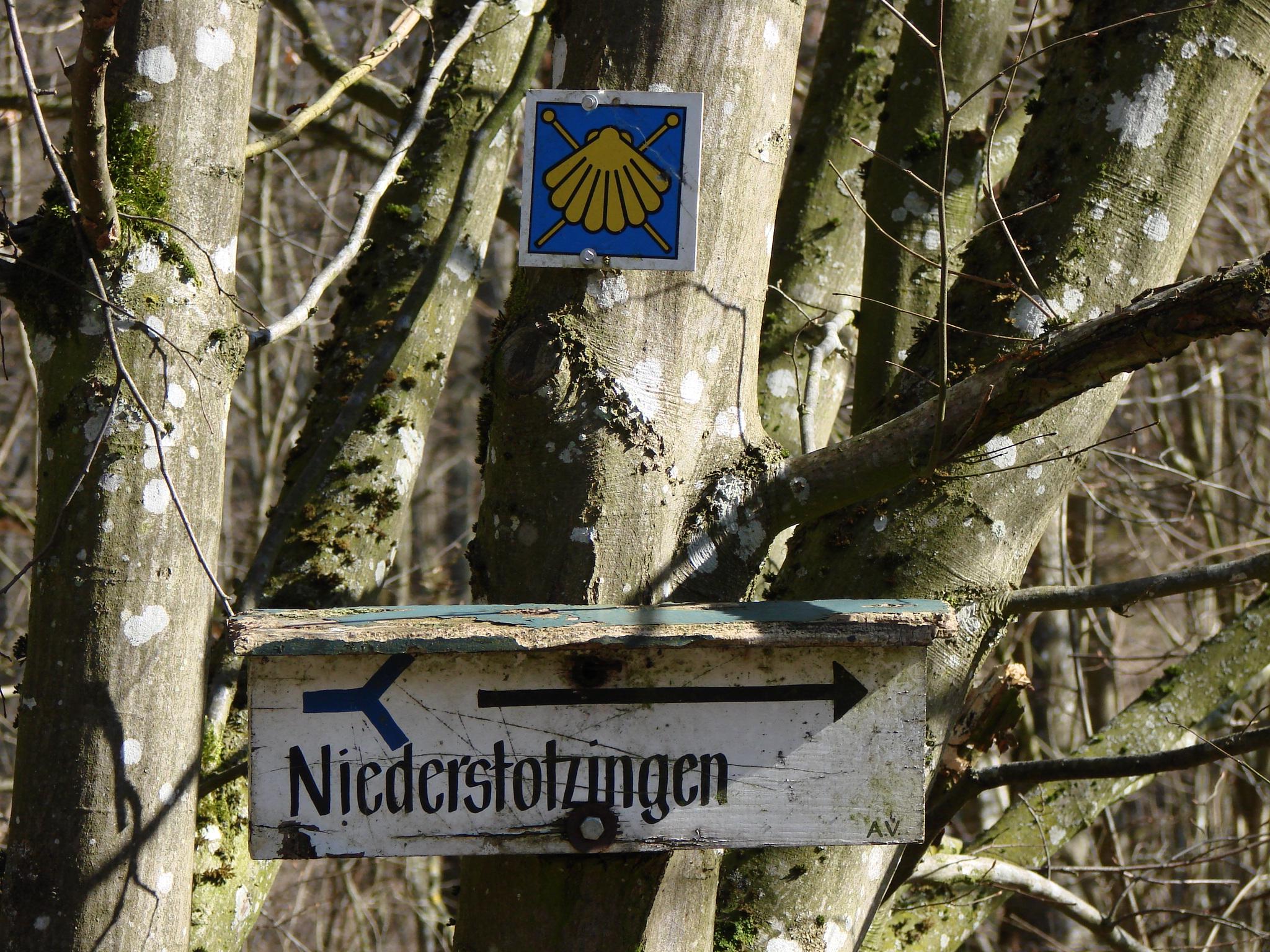 Schild Jakobsweg (Foto)
