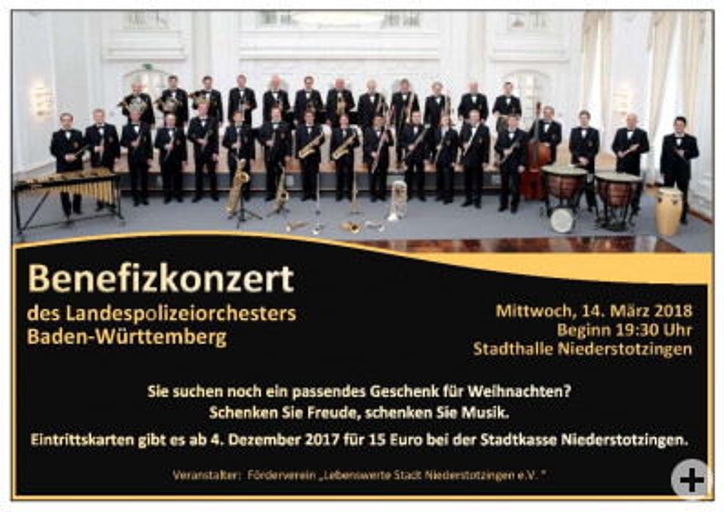 Benefizkonzert des Landespolizeiorchesters Baden-Württemberg