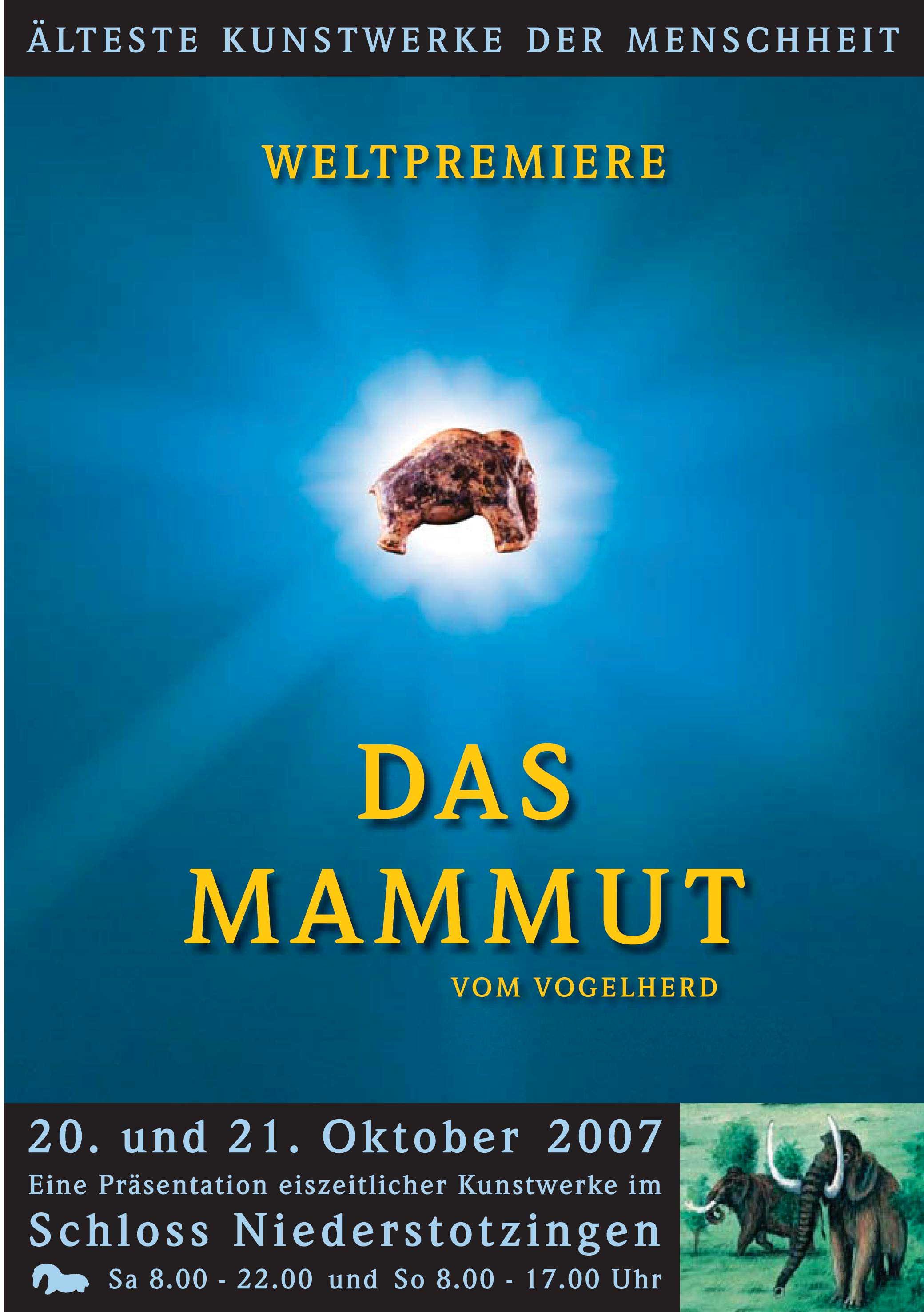 Postkarte Präsentation Mammut 2007