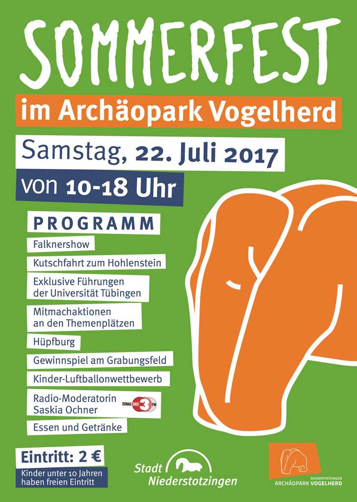 Sommerfest im Archäopark am 22.07.2017