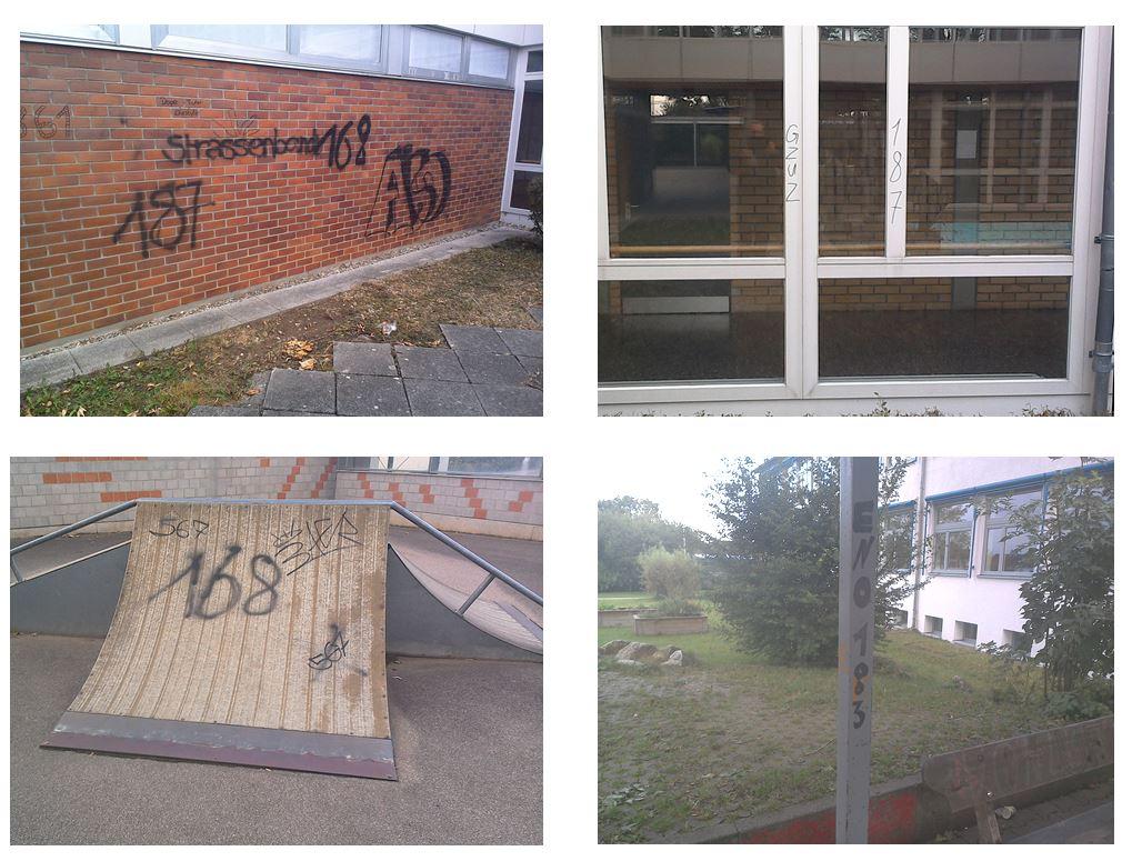Sachbeschädigung / Graffiti am Schulgebäude