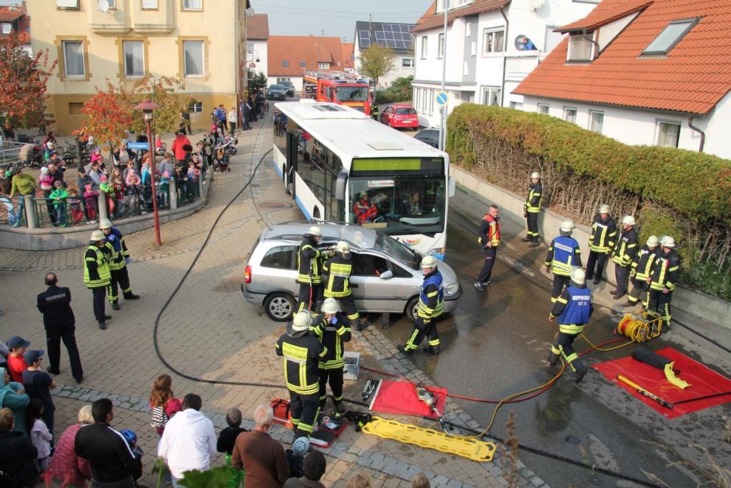 Hauptübung Freiwillige Feuerwehr Niederstotzingen am 20.10.2018