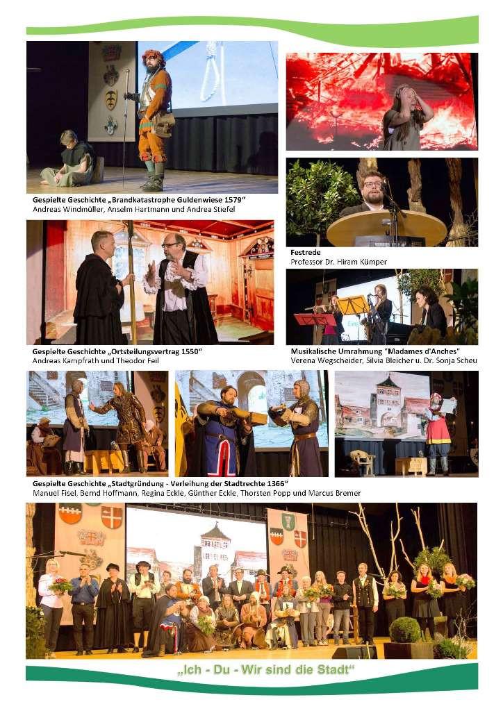 Rückblick Festakt am 27.12.2016 - 650 Jahre Stadterhebung Niederstotzingen