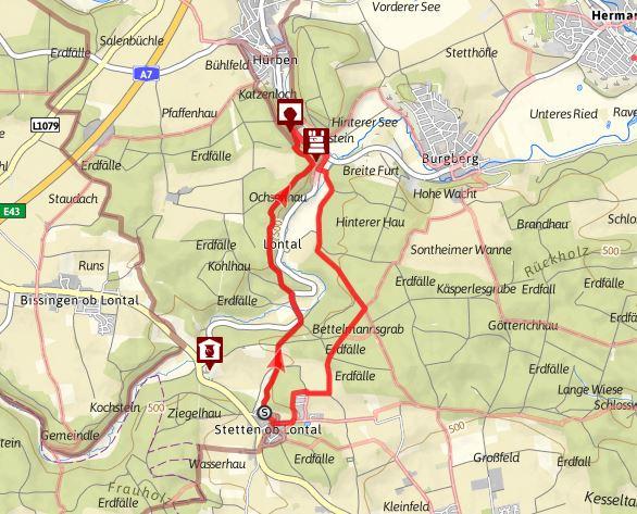 """Albschäferweg-Zeitspur """"Höhlengang"""" zwischen Stetten und Hürben"""