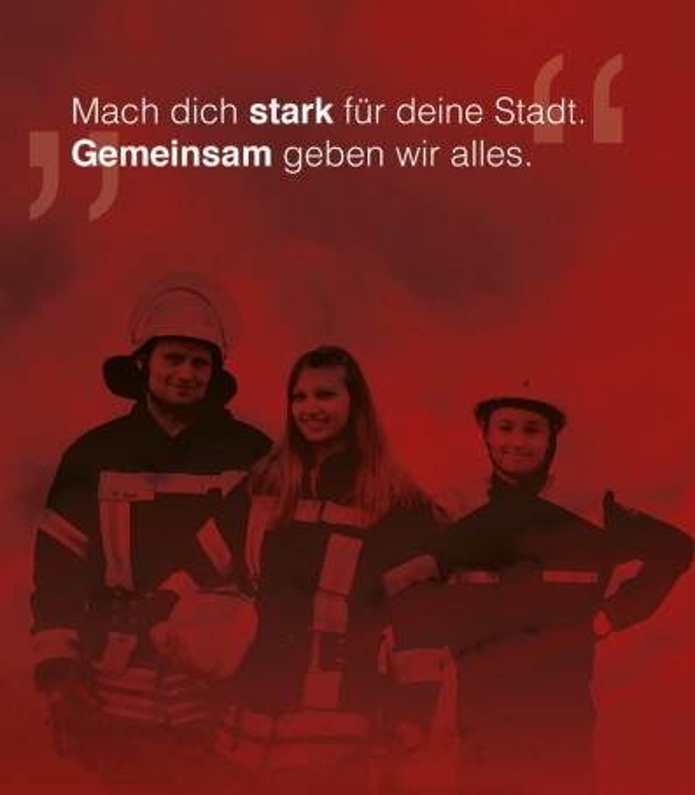 """Feuerwehr """"Mach die stark für Deine Stadt"""""""