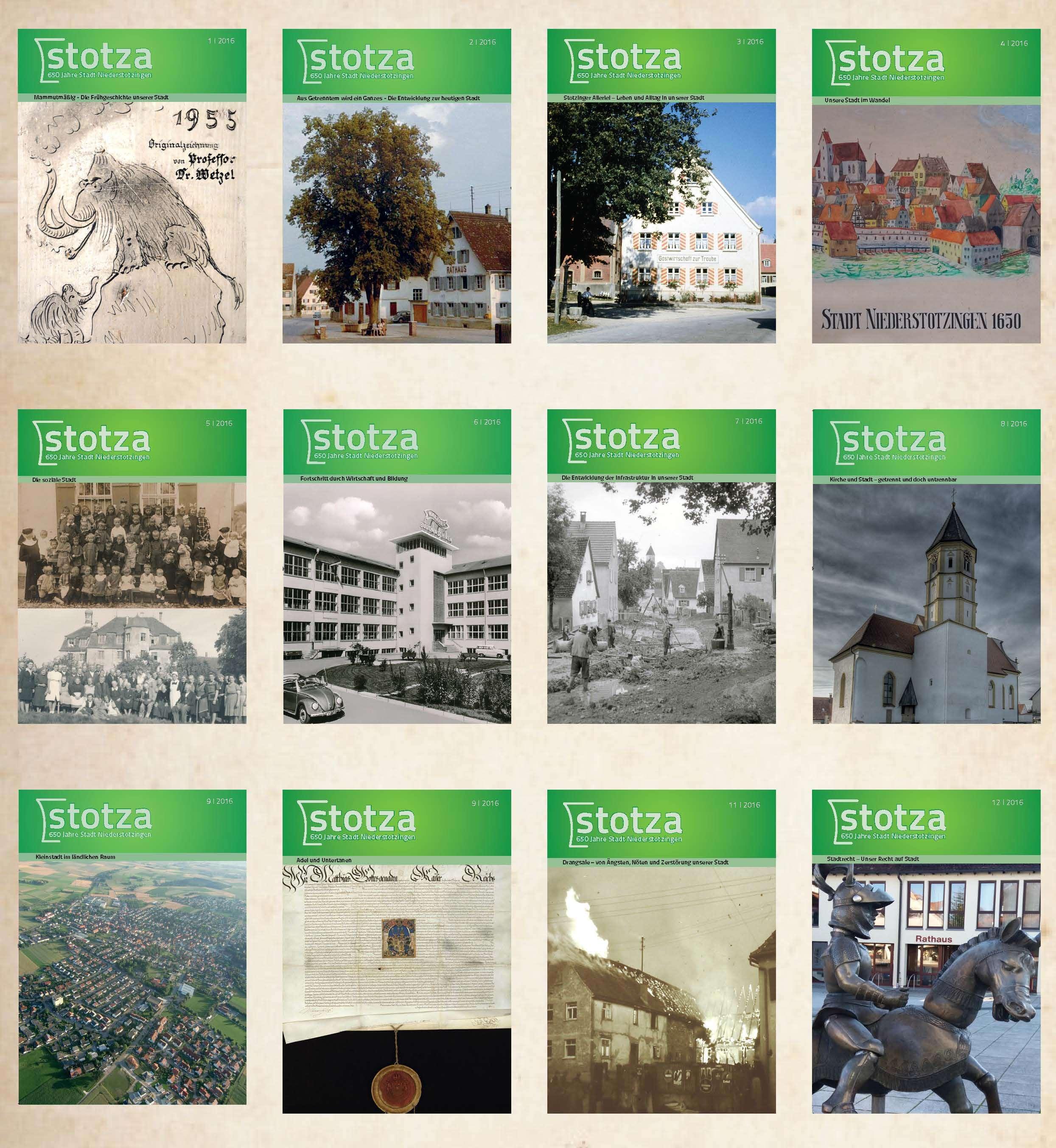 """Heftreihe """"stotza"""" Ausgabe 1-12"""