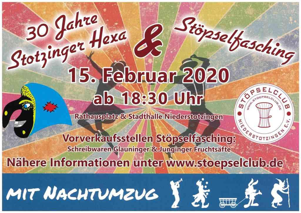 30 Jahre Stotzinger Hexa und Stöpselfasching am 15.02.2020